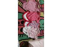Baby girls vests 3-6 months