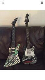 Two paper jamz guitars Bargin £5