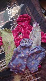 Girls pyjama bundle 4 items 2-3 years