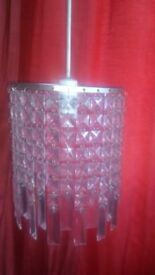 One Bulb Glass Chandelier/ Ceiling Light for Sale
