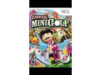 Wii mini golf