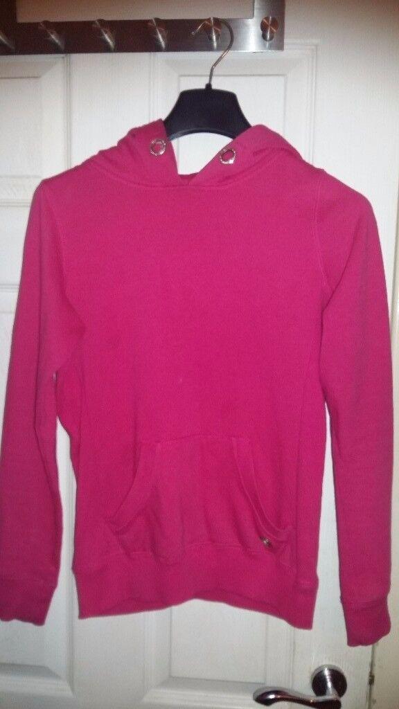 Older Girls Pink Hoodie Jumper Sweatshirt for 8-9 years