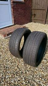 Pair of two Continental tyres