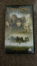 Lord of the rings VHS videos