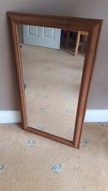 Wooden mirror.
