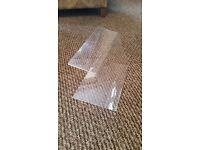 "Acrylic Sneeze Guard Food Protector x 5 - L8""x H8"""