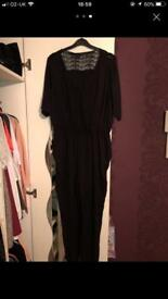 Newlook black 3/4 length jumpsuit