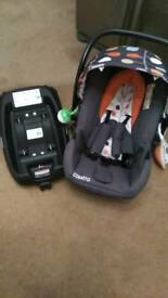 Cosatto hold car seat and is of isofix Base.