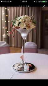 Wedding table centre pieces x6