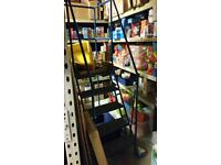Easy access warehouse stairs 5 treads inc platform