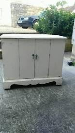 Large vintage Corner Cabinet (TV)