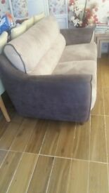 3 and 2 seater velvet fabric sofa for sale.