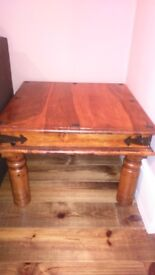 Beautiful square heavy real wood coffee table