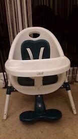 Mamas and Papas Teal Bop Hi-Low chair (highchair)