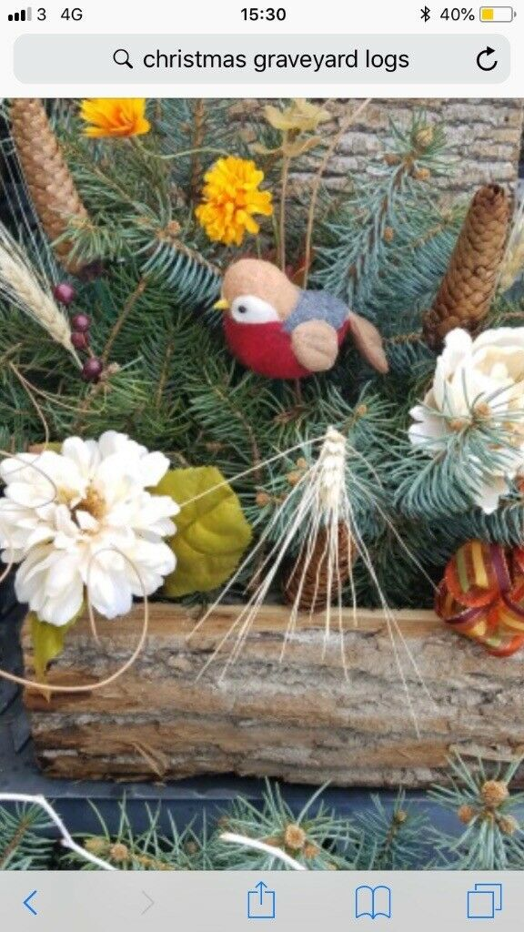 christmas grave decorations