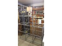 IKEA Laksvik Glass and Metal Cube Step Shelves