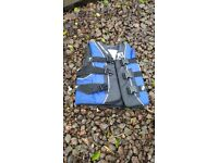 Childs life jackets. Make - Two Bare Feet - small 50-60 kgs. 80-90 CMS chest. Blue and red