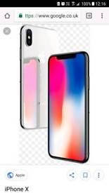 New Iphone x grey 64 gb