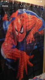 Spider man shower curtain
