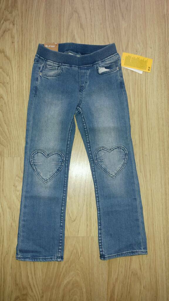 NEW girl's jeans 4-5 years H&M
