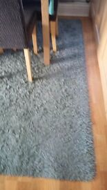 Long pile shaggy rug. Duck egg colour