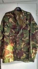 2 x British Army DPM lightweight woodland combat shirts/jackets Size 180 height/104 chest