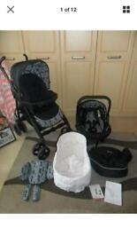 Silvercross monodot full travel system with car seat and instructions