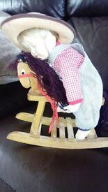 Ashton drake collection asleep in saddle doll