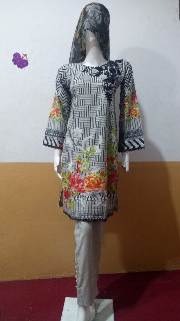Supply Womens Ladies Pakistani Readymade Linen Suit Attractive Fashion Other Women's Clothing Women's Clothing