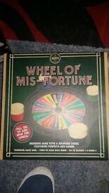 Wheel of misfortune board game