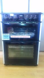 BELLING black 60cm gas cooker new ex display