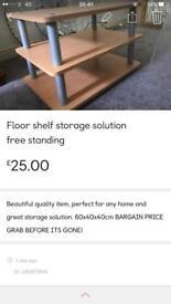 Floor shelf storage solution