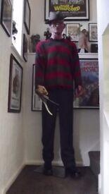 Life Size FREDDY KRUEGER NIGHTMARE ELM ST Prop Statue Horror Figure Halloween