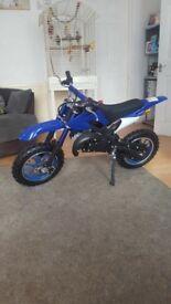 Kids brand new 50cc motorbike might swap