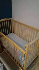 Cot bed with matters