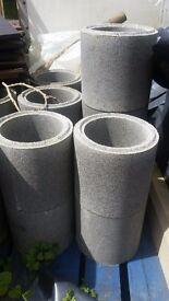 Chimney flue lining pots