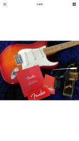 Fender Standard Stratocaster Plus Top MN Aged Cherry Burst (BRAND NEW)