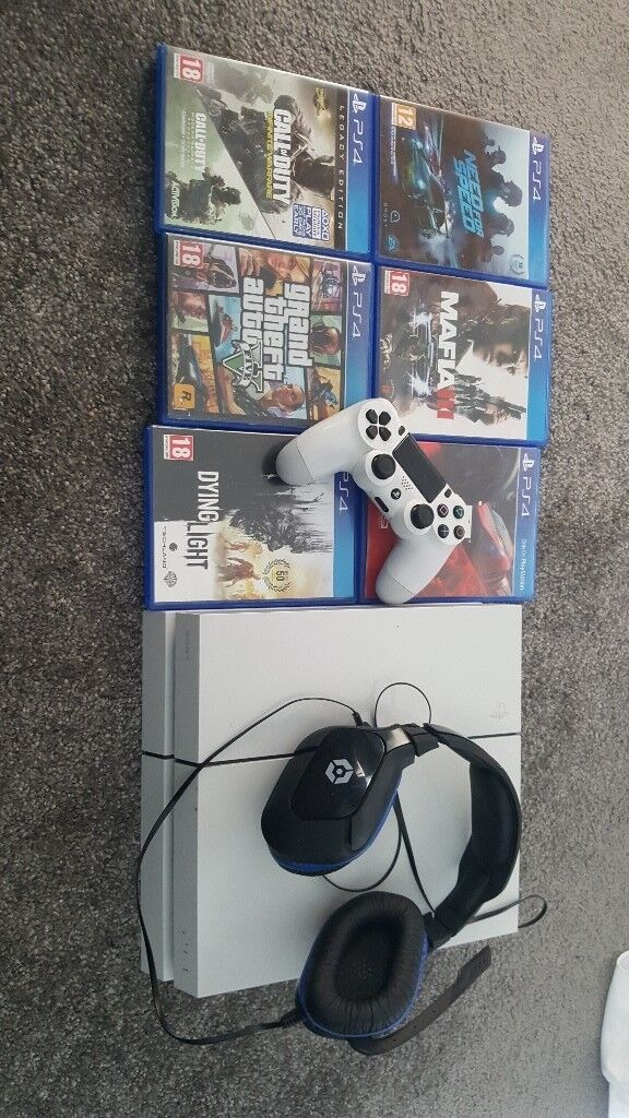 Playstation 4, games, headset