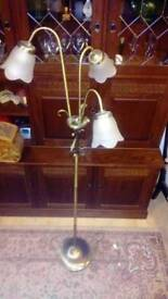 Beautiful Elise brass floor lamp