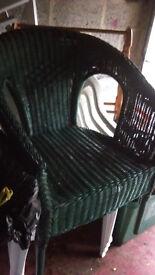 Ratan Green Chair good condition