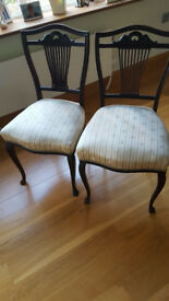 2 Antique Regency Hall Chairs for sale.