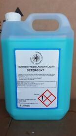 5 litre bottles laundry liquid summer fresh detergent biological 142 wash per bottle