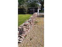 Recycled bricks free for collection. Easy excess forloading