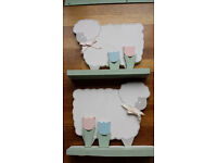 BABY/CHILD BOOKENDS SHAPED IN FORM OF A LAMB WEIGHTED