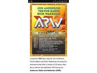 ARW (YES) Gig tickets Edinburgh Weds 22nd March, two tickets
