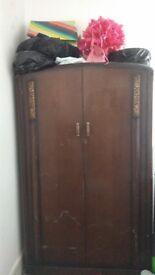 Freestanding Large Wooden Wardrobe