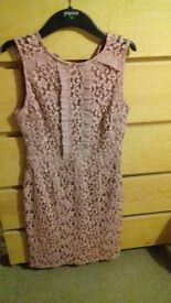 pink dress from warehouse size 10