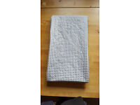 White and grey polka dot shower curtain. Gd condition £2