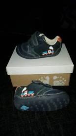 2x boys Clark's shoes