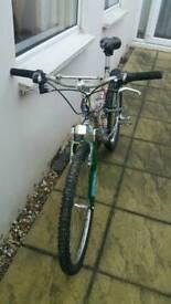 Custom full suspension bicycle